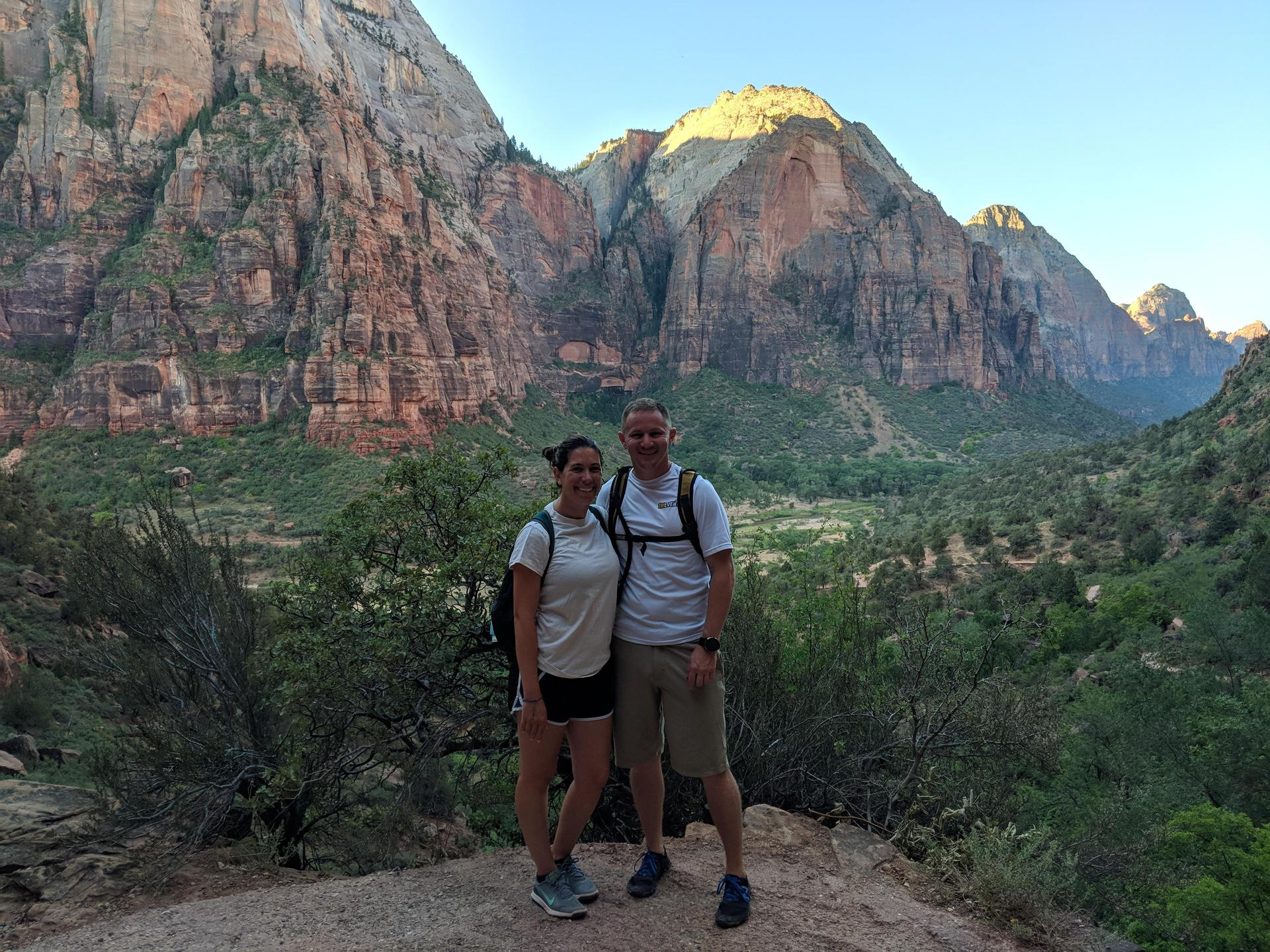 Jenn and Nate at Zion