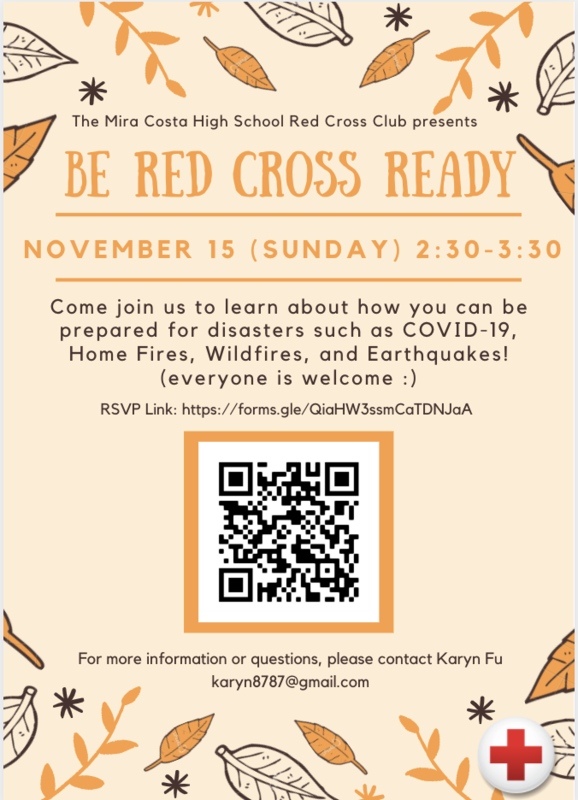 Mira Costa Red Cross Club Events! Thumbnail Image