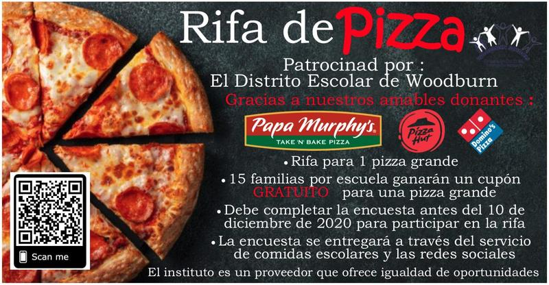 Encuesta: Rifa de Pizza/Survey: Pizza Raffle Featured Photo