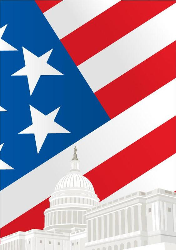 Graphic. US FLAG and Capitol Dome. Shutterstock.com.