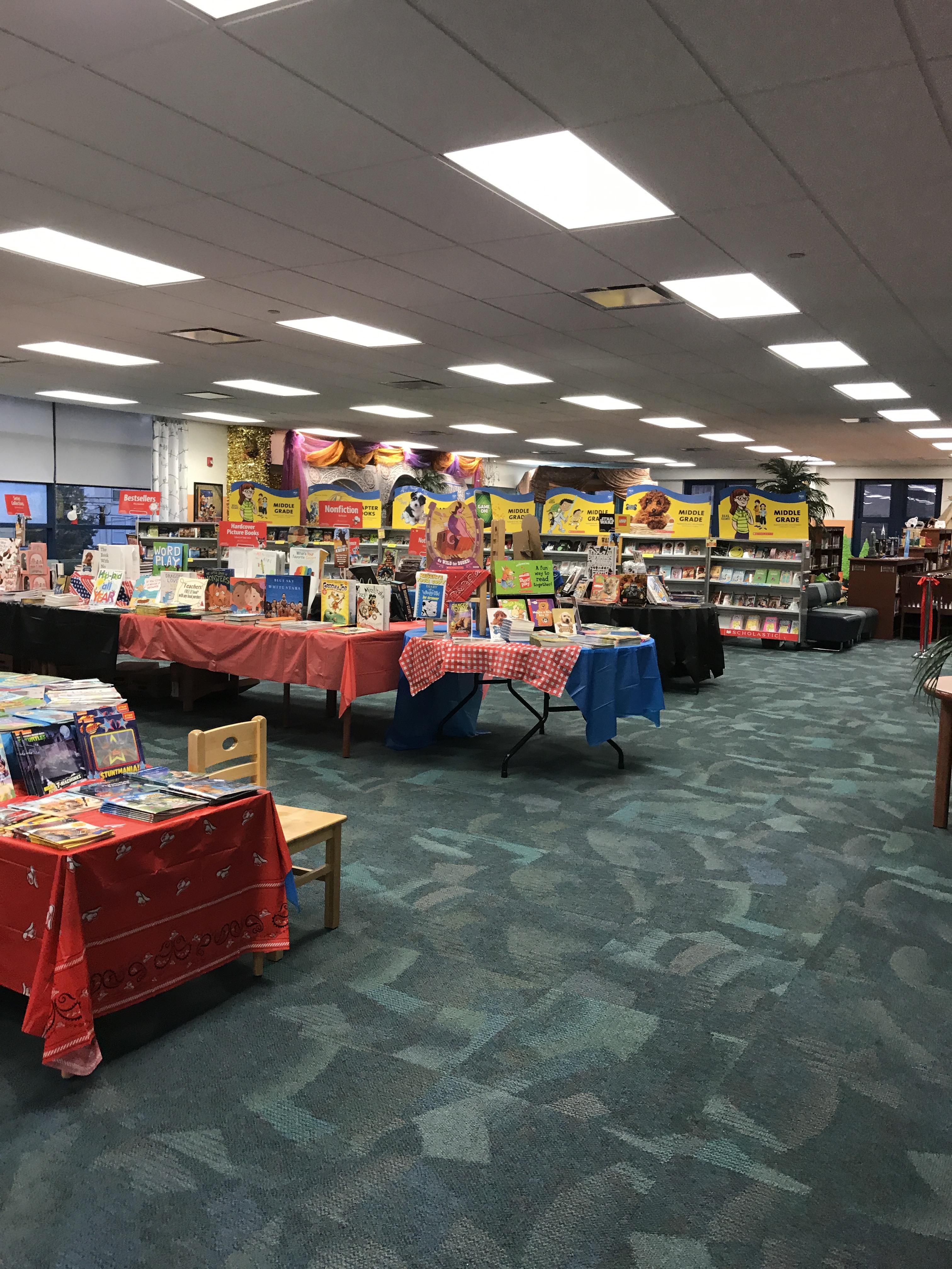 Scholastic book Fair at Colin Powell