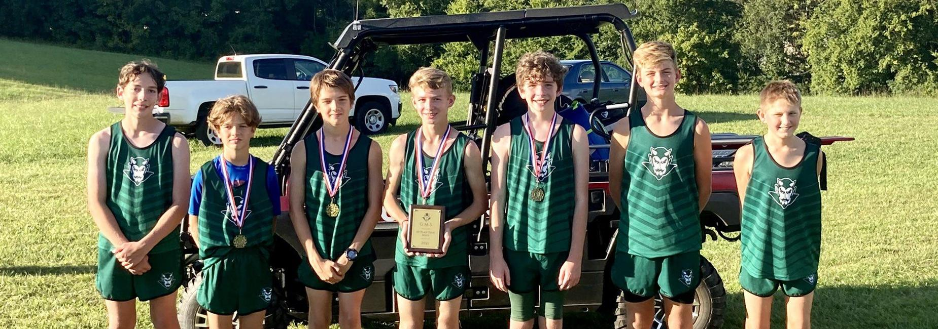 a picture of the GMS Boys Cross Country team