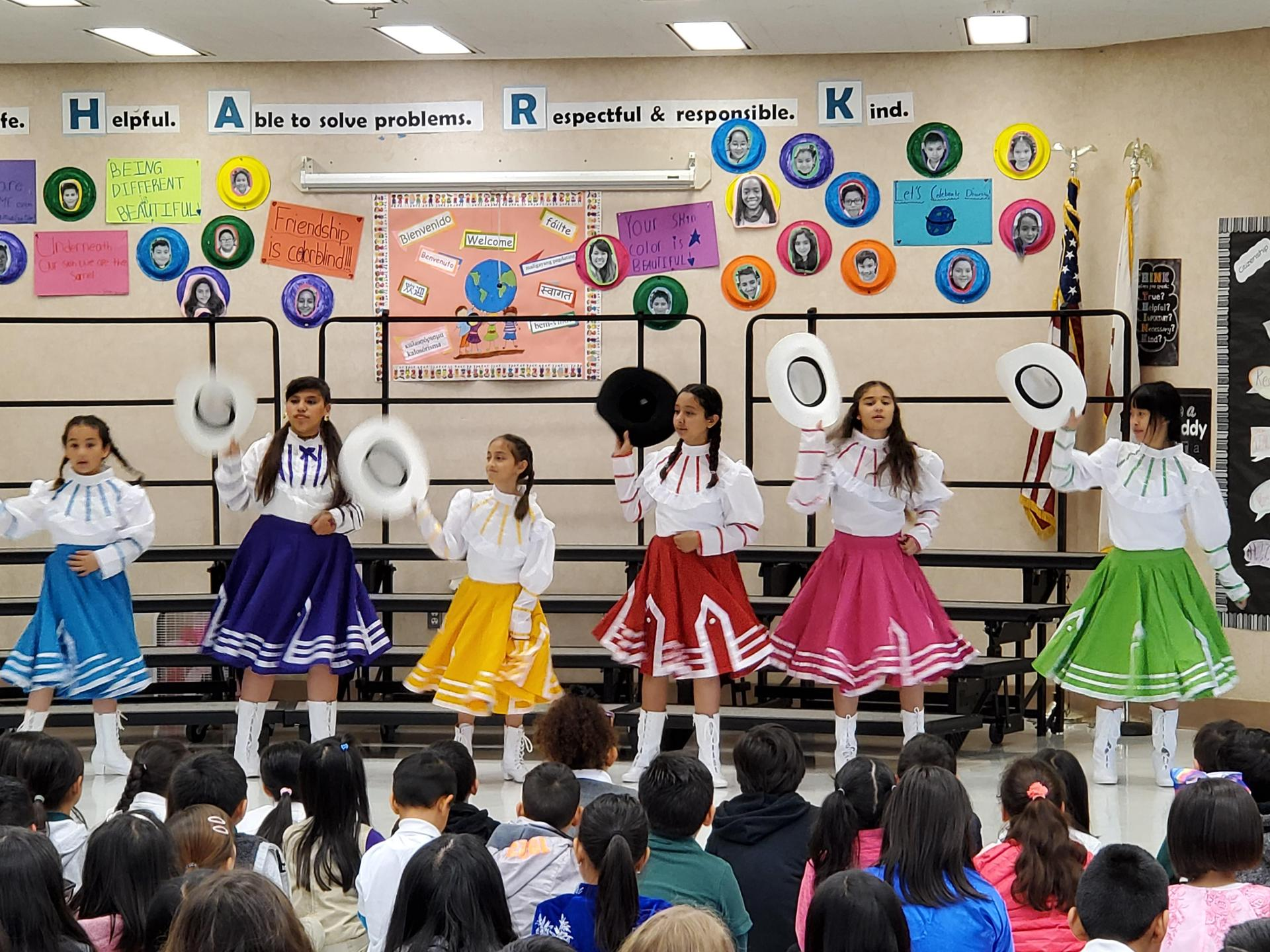 CORAL students performing Folklorico