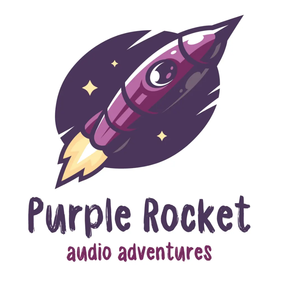 Logo: Purple Rocket Podcast