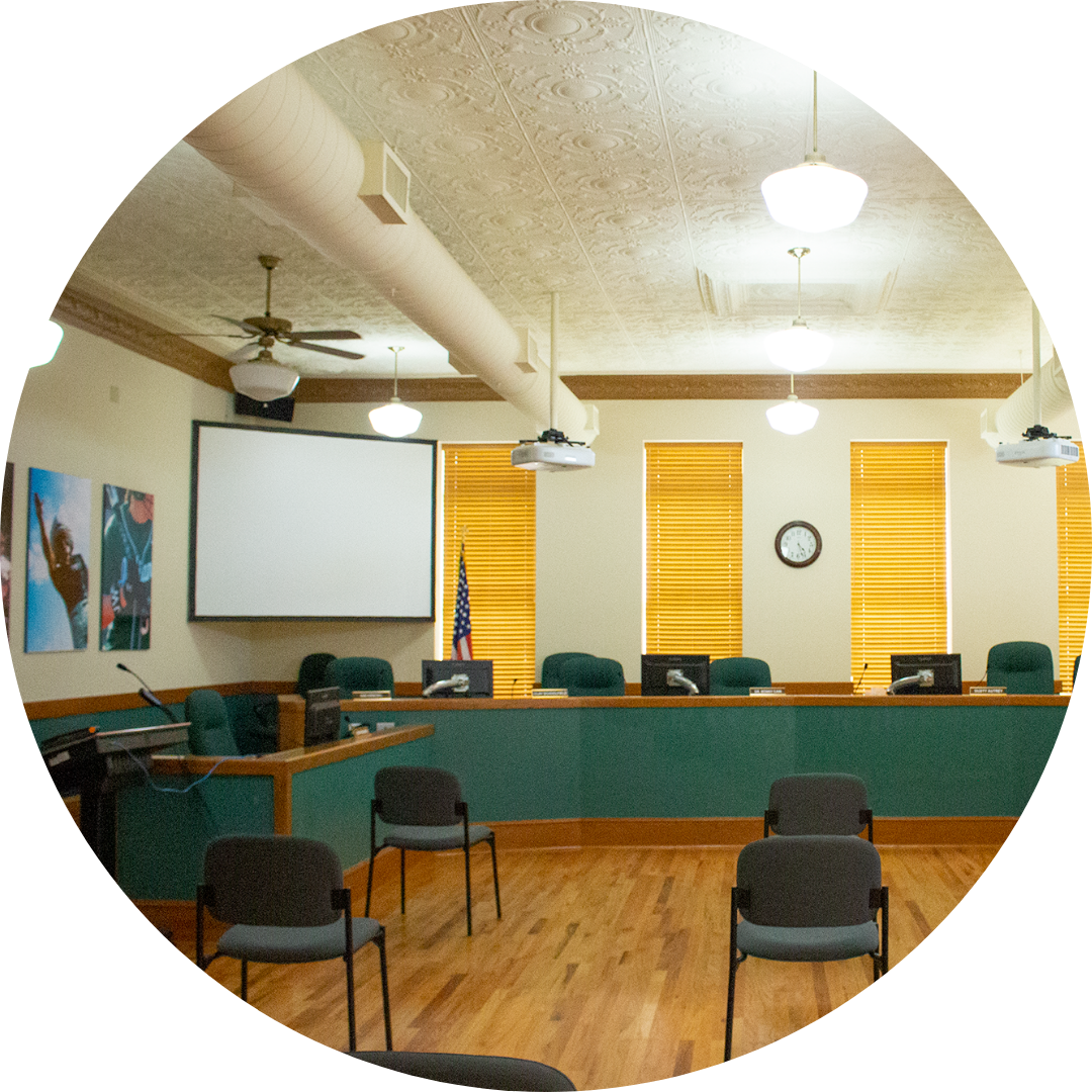 picture of the empty boardroom
