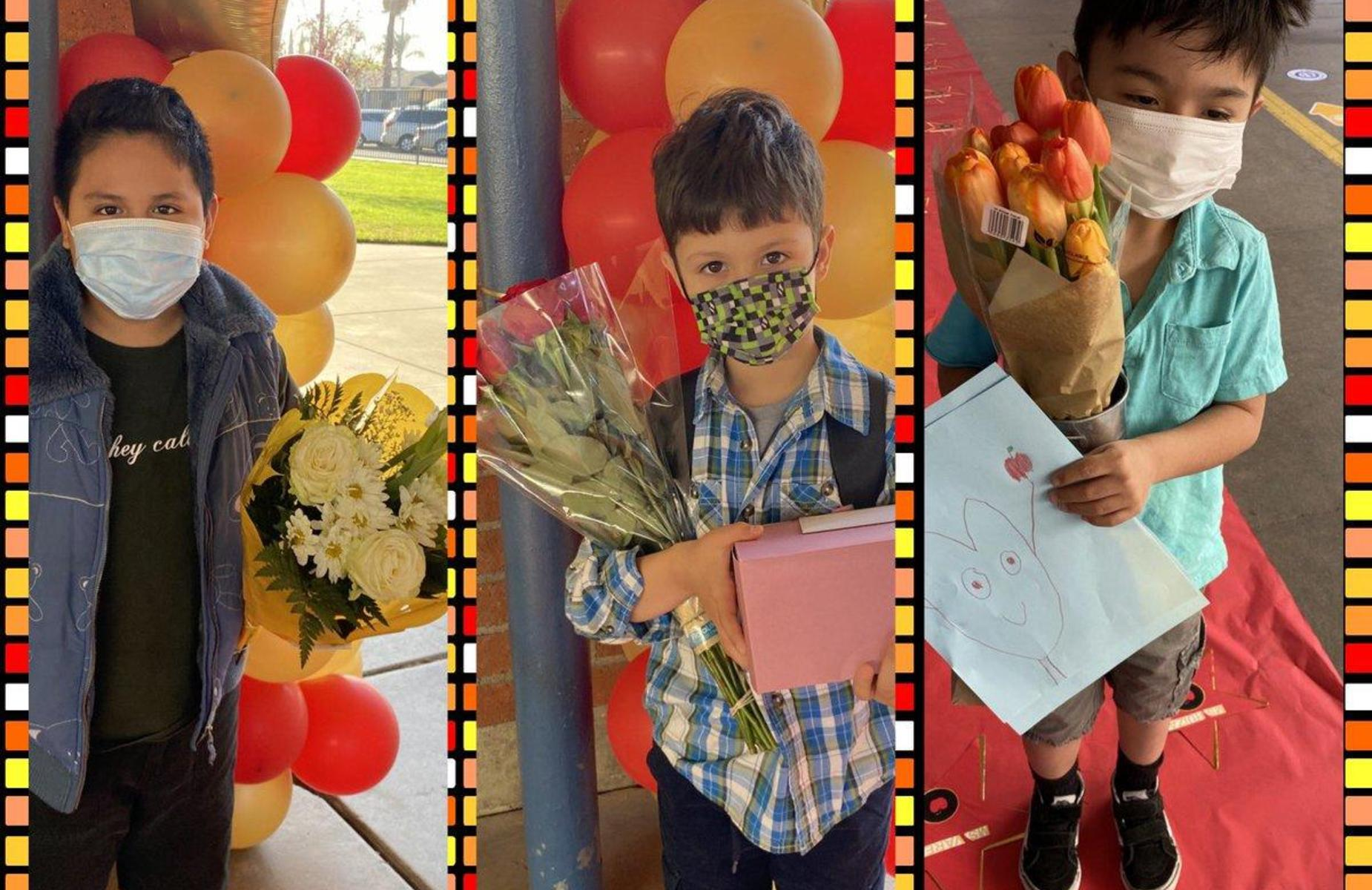 Arroyo #Panthers showing  their appreciation by bringing flowers! Their excitement and appreciation brought joy to their teachers. #proud2bepusd  @ArroyoPUSD  #TeacherAppreciationWeek