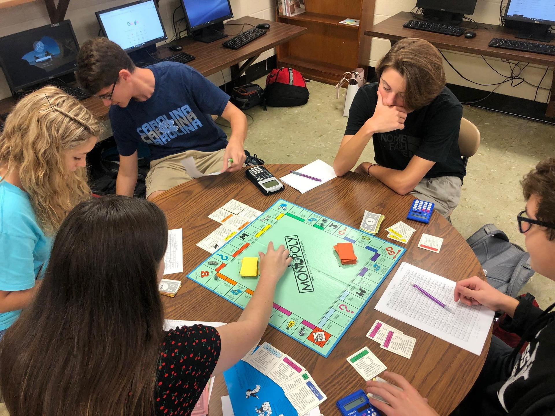Personal Finance - Keeping a check register with Monopoly.
