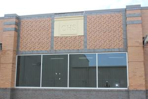 Exterior facade of new CHS science wing