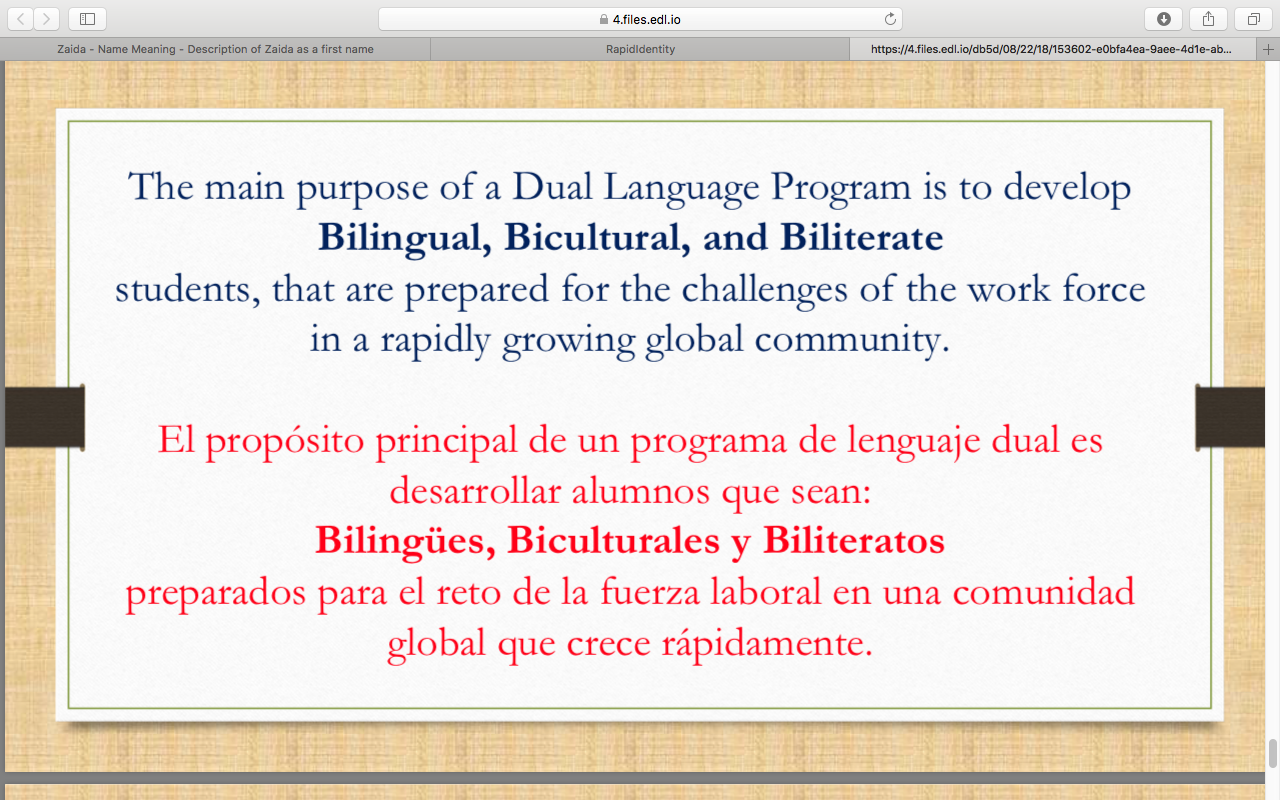 Dual language slide 17