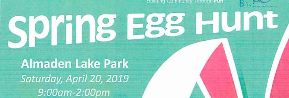 Spring Egg Hunt at Almaden Lake