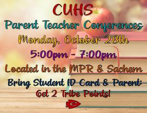 Flyer parent teacher conferences