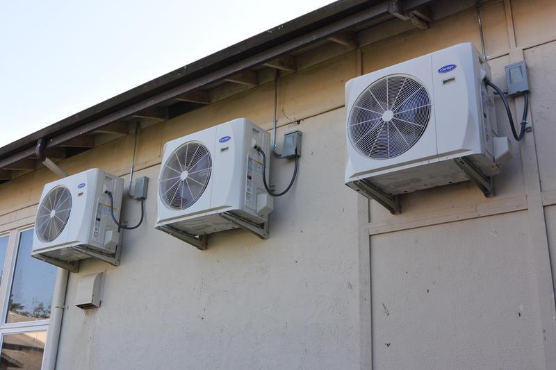 new HVAC units at high school
