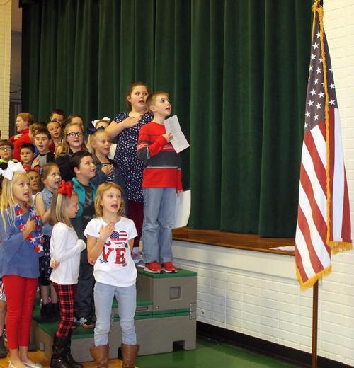 East Cheatham Elementary School Veterans Day program.