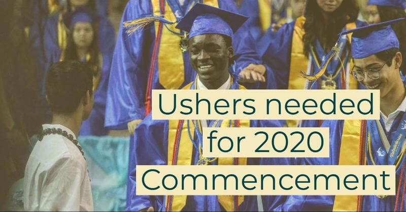 Junior Ushers needed for 2020 Commencement Featured Photo