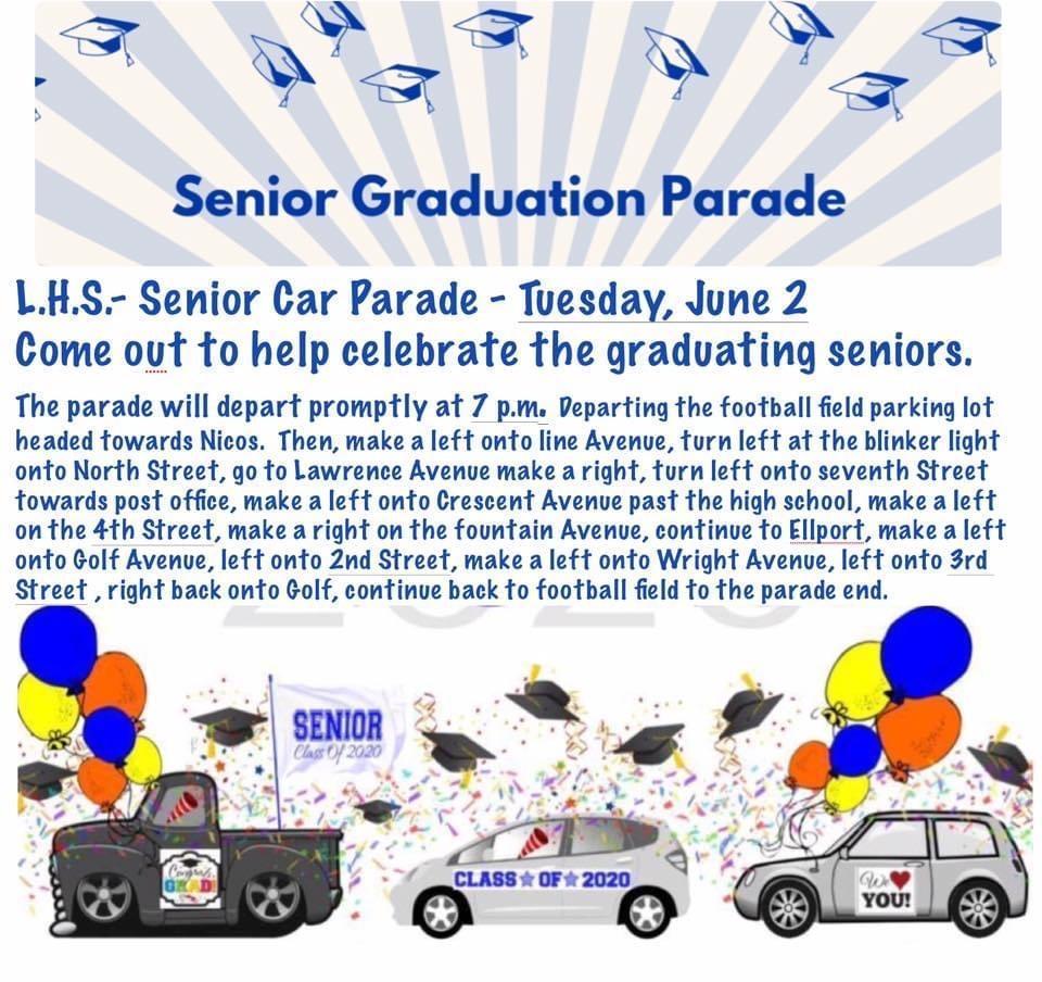 Senior Parade Route