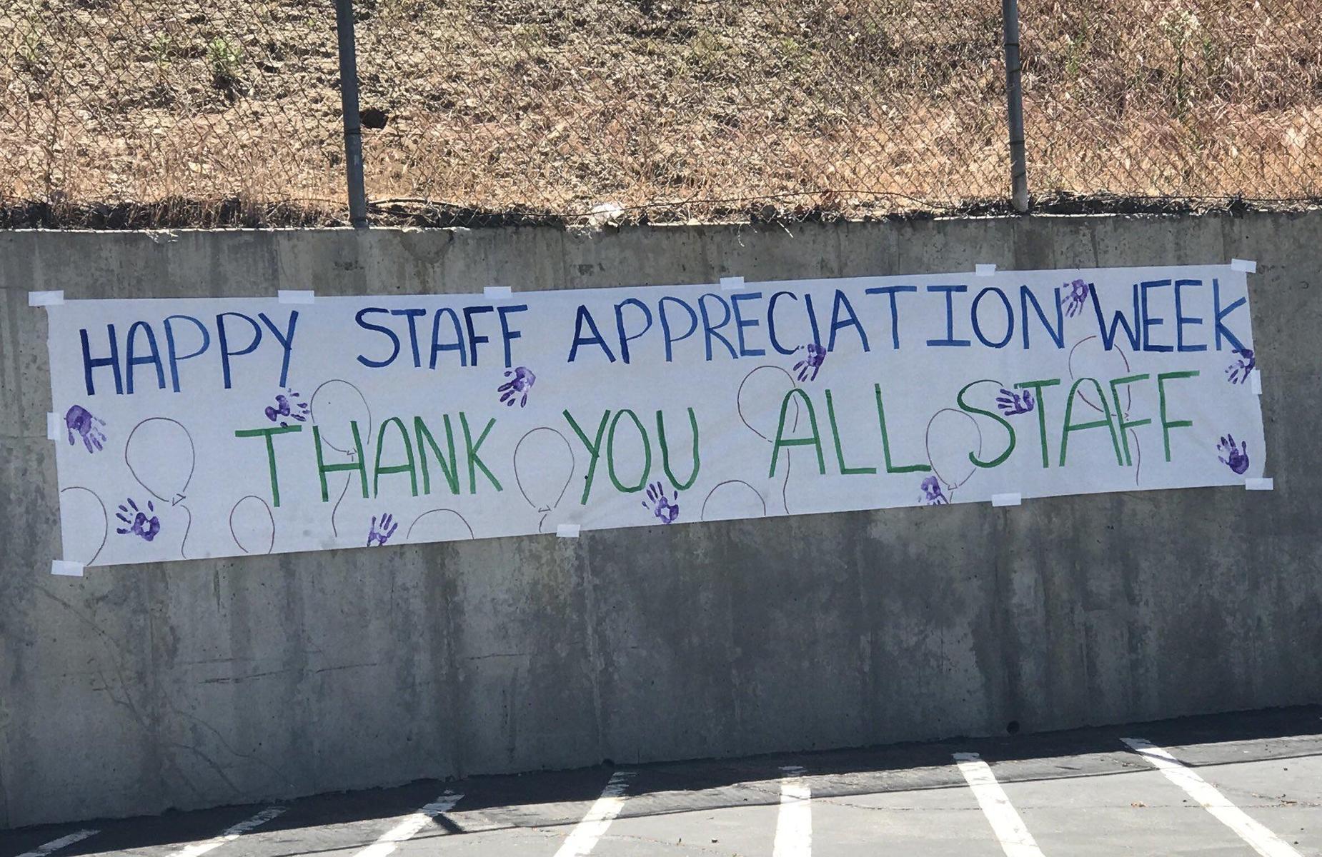 happy staff appreciation week, thank you all staff