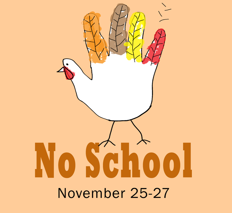 No School Thanksgiving Holiday Graphic