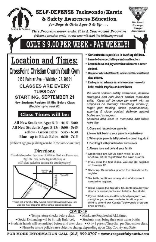 Whittier City: Self Defense - Eng