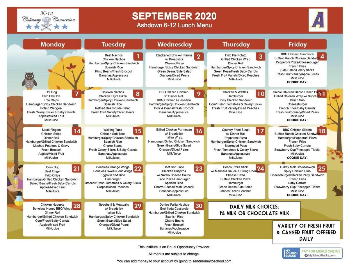 6-12 Lunch September 2020