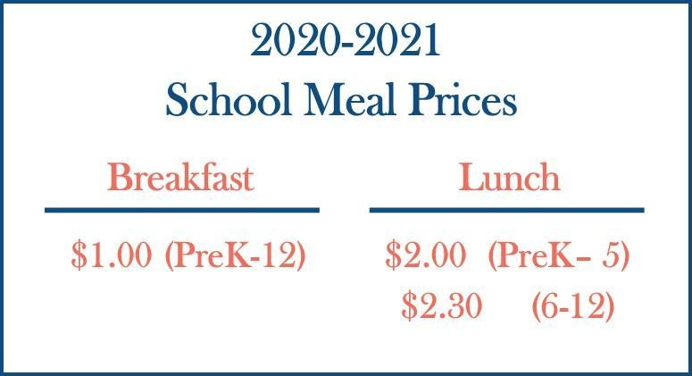 Meal Prices