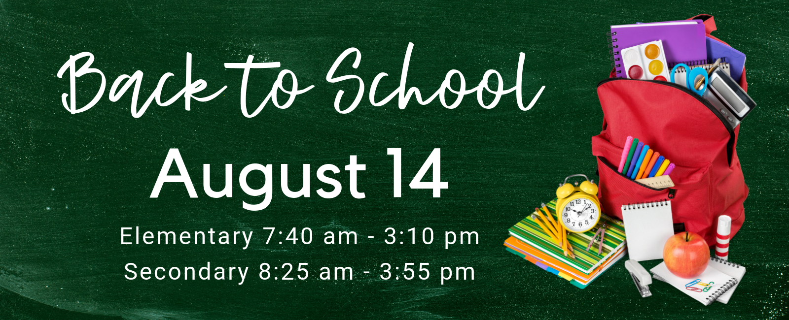 Back to School August 14