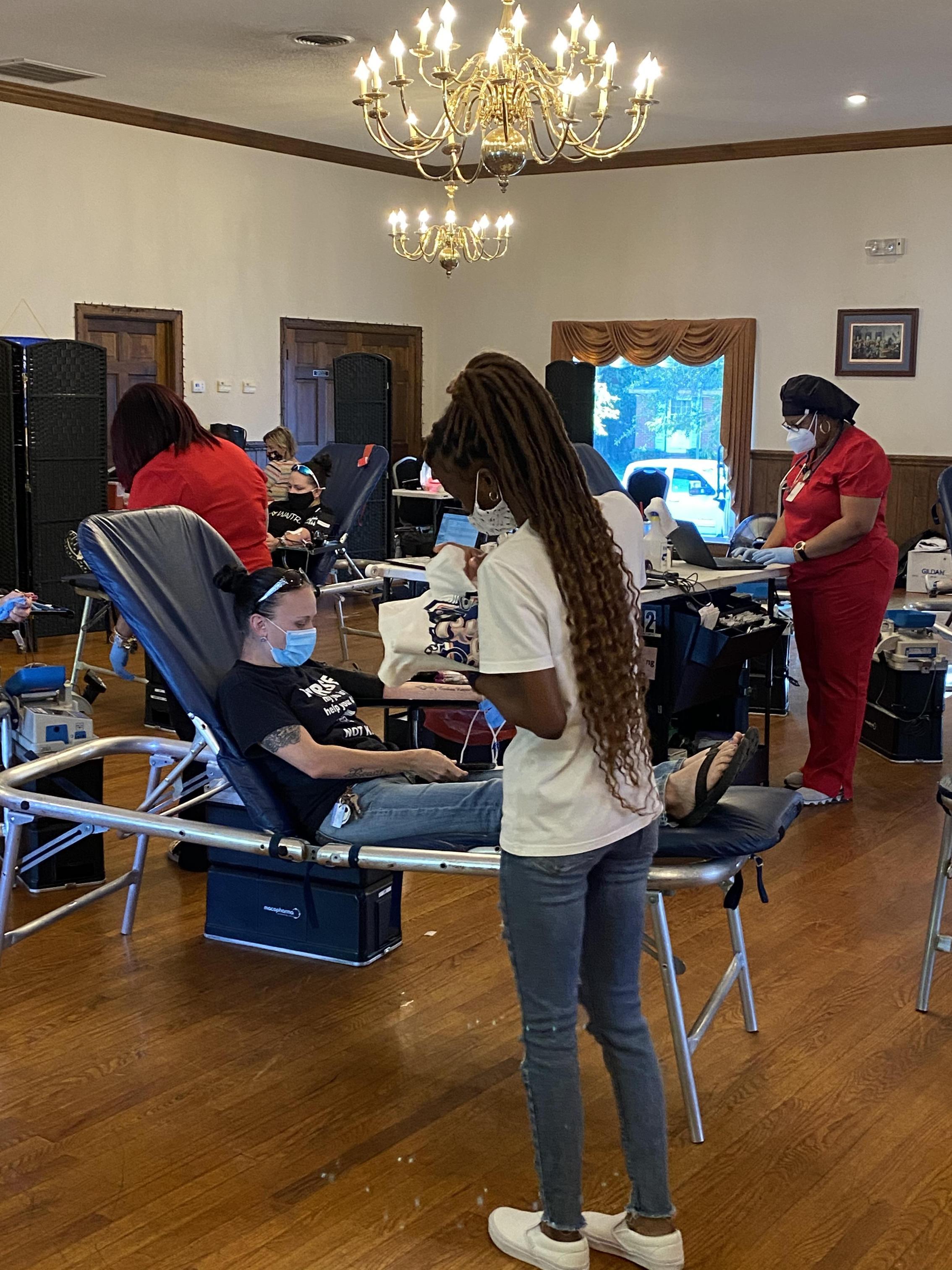 Service Learning at Blood Drive in Waynesboro. 2020-2021