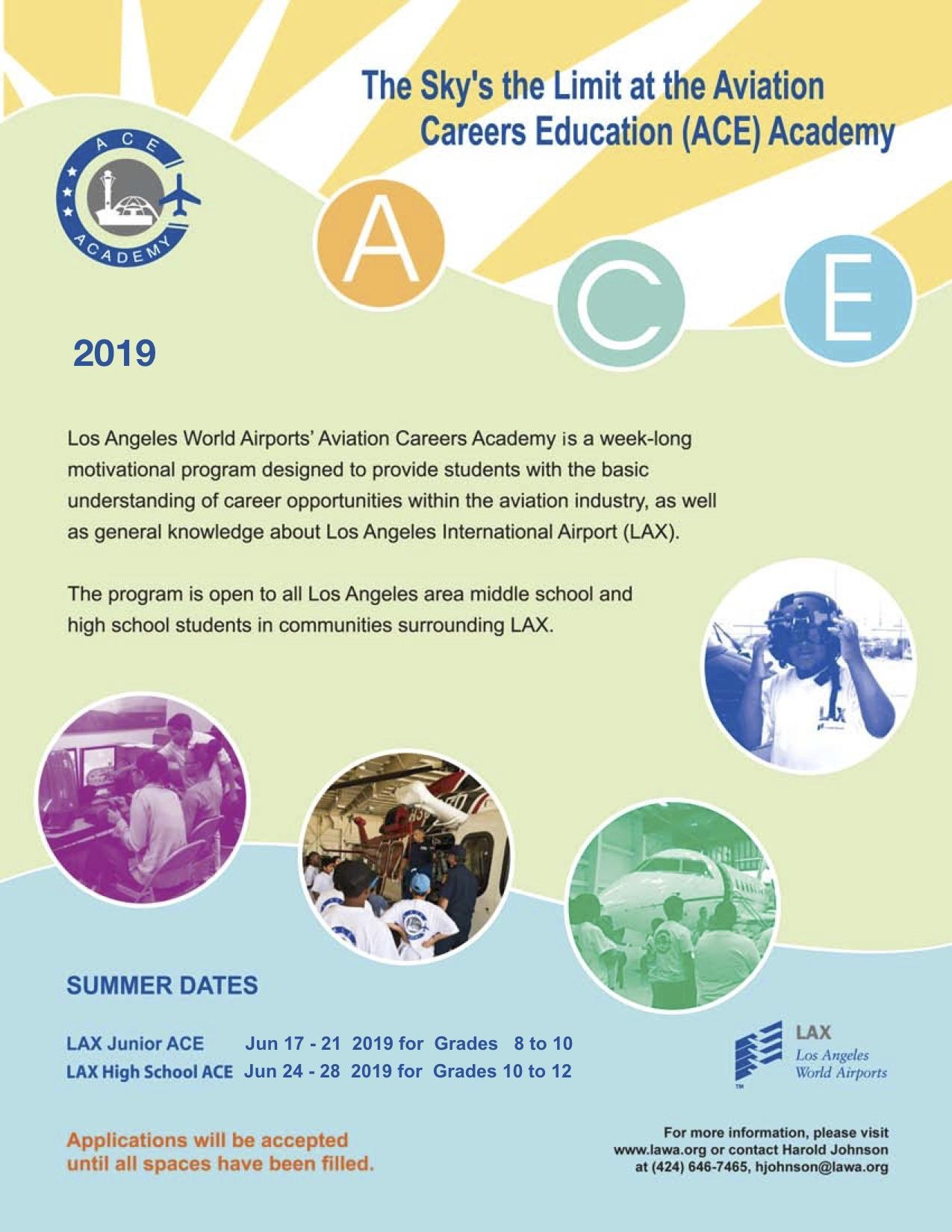 LAX Aviation Careers Education (ACE) Academy – Community Events