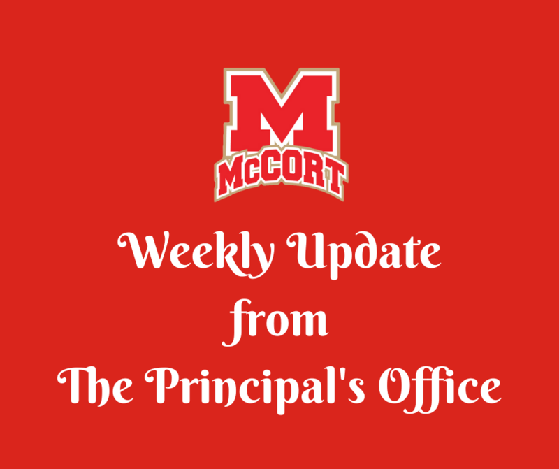 Weekly Update from the Principal's Office Thumbnail Image