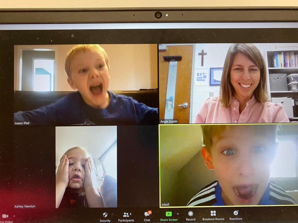 St. Timothy's School students learning from home during pandemic