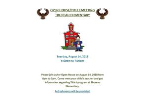Open House for Thoreau Elementary