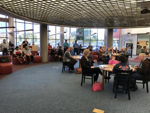 Our beautiful media center/library space!
