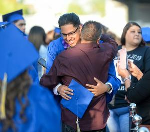More than 140 seniors celebrated their graduation on June 5, featuring a ceremony where graduates take a moment to recognize and honor an individual who helped them reach their goals.
