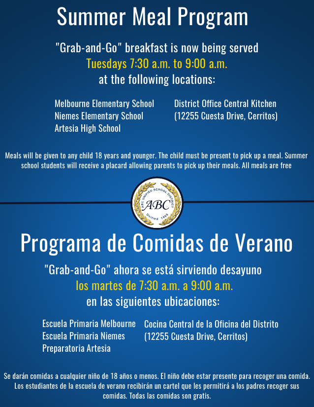 Summer 2020 Meal Program Information