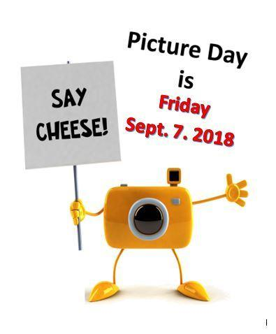 Picture Day is Friday, September 7, 2018