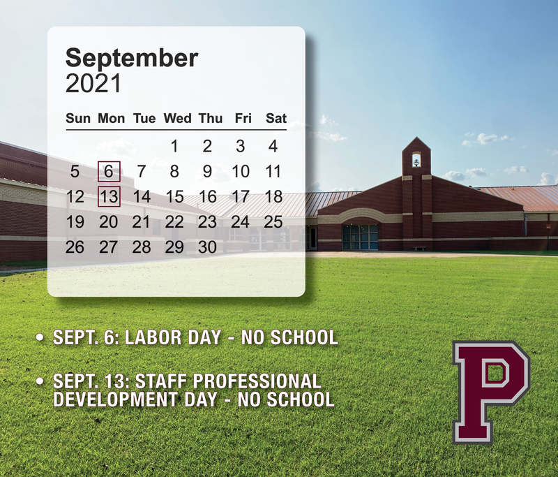 No school on September 6th and September 13th.