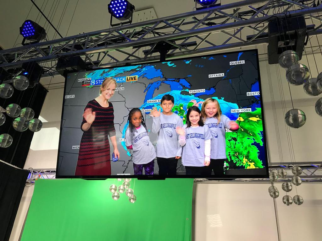 field trip to Wood TV 8's weather experience. The students  were able to learn about how weather forms, is tracked, and how it is presented on the news.