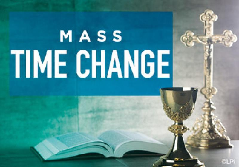 Change in Mass Times beginning the weekend of July 31st/Aug 1st Featured Photo