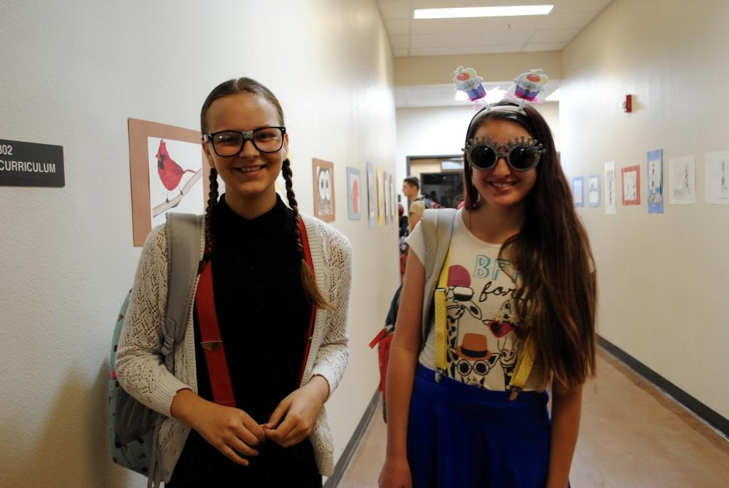 Students dressed for nerd day.