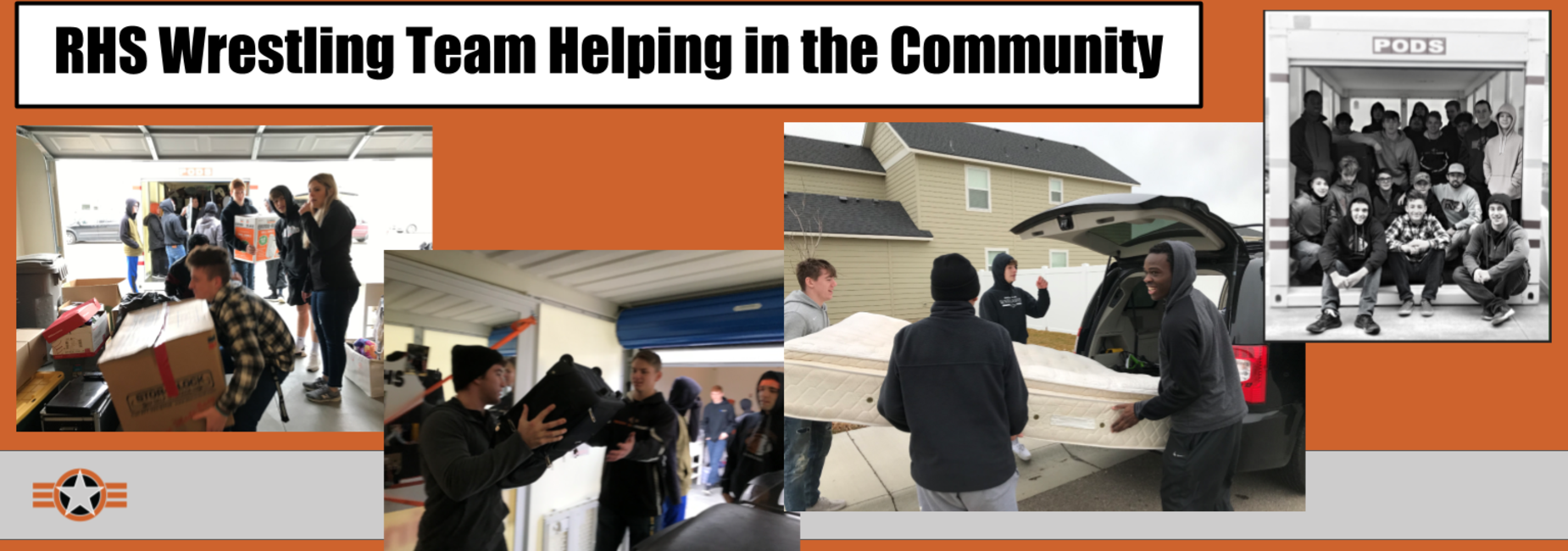 RHS Wrestling Team Helping in the community