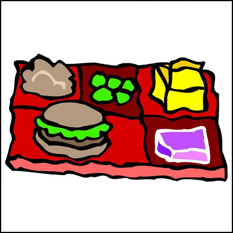 Food on a tray