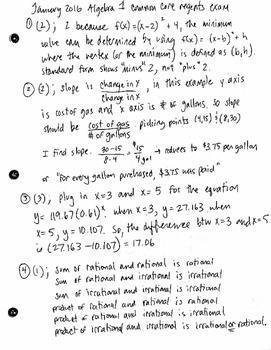 Algebra 1 Regents Math Problem