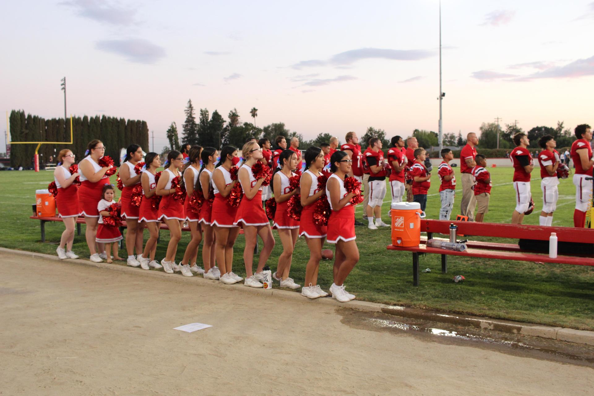 Students enjoying the football game against hoover