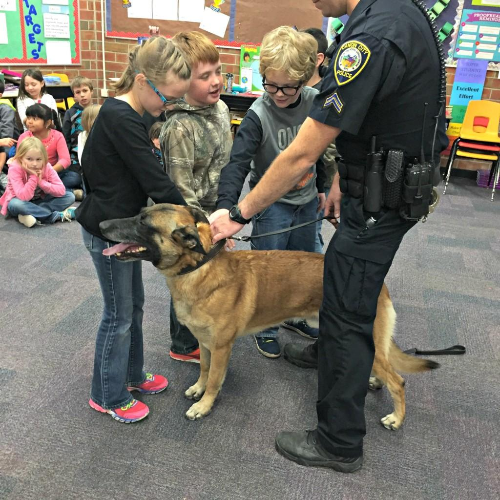 K-9 Dog with 3rd graders #3