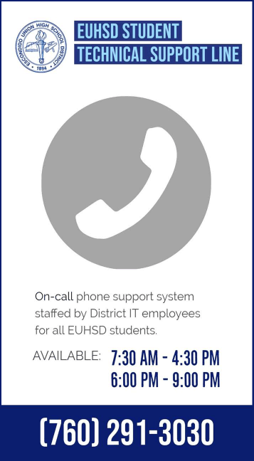 EUHSD Technology Help Line