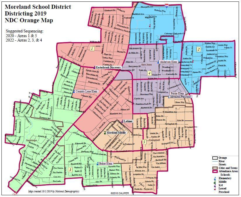 Moreland School District 2019 NDC Orange Map
