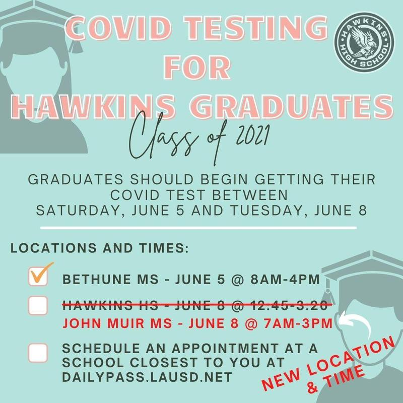 COVID Testing for Hawkins Graduates Featured Photo