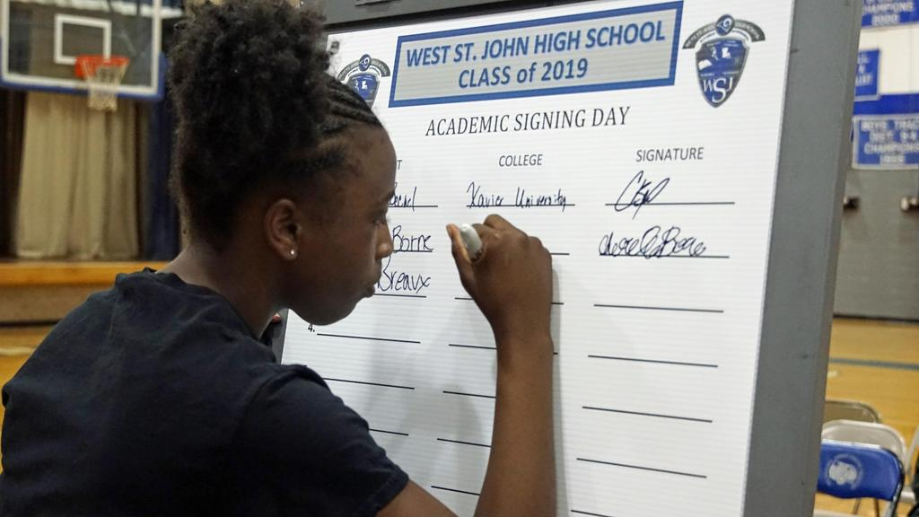 West St. John High Academic Signing Day