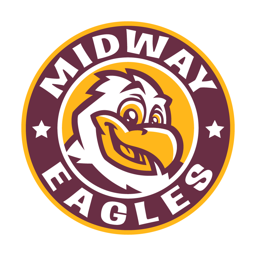 Midway Elementary circular logo with eagle mascot