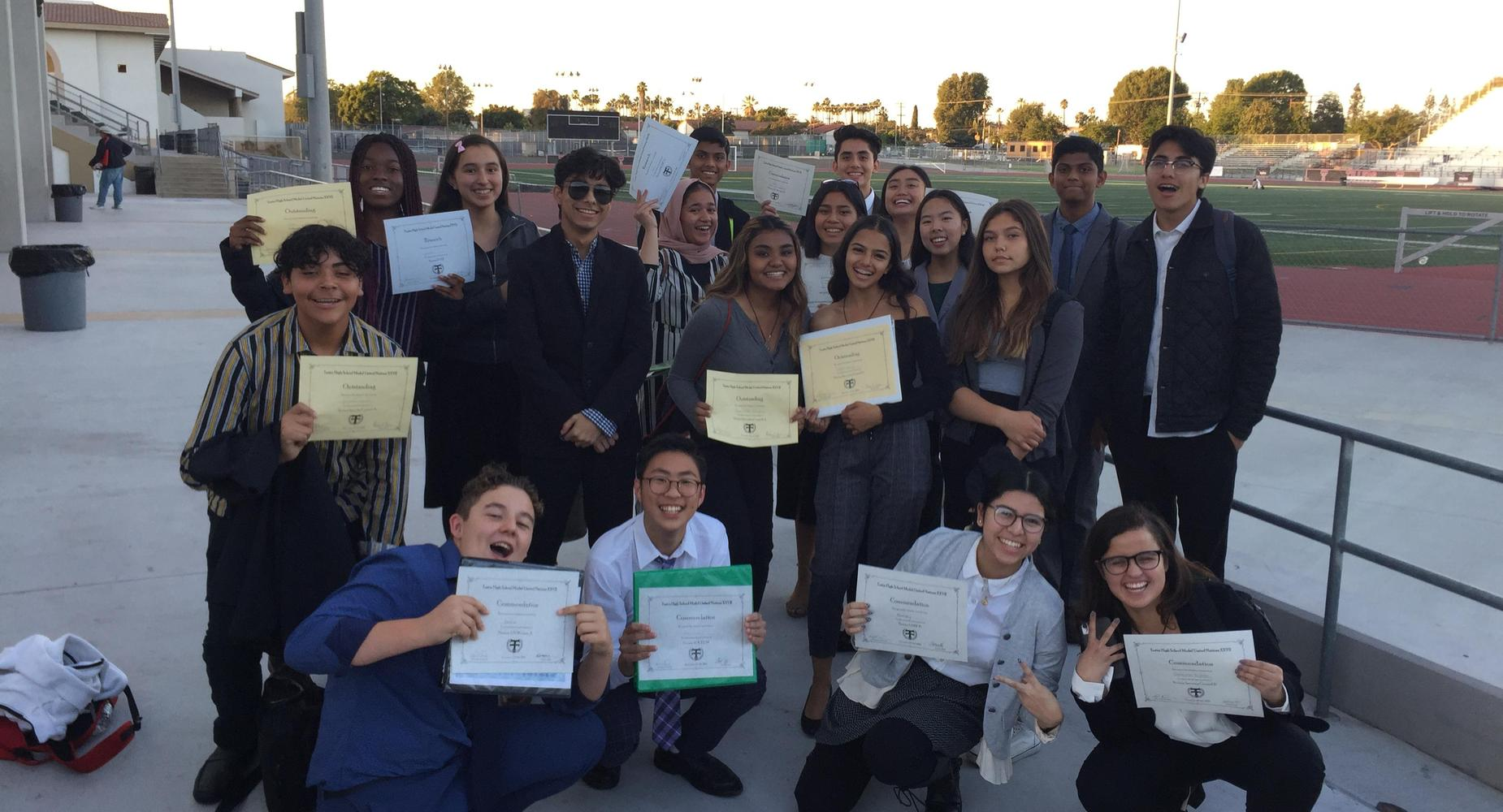 Gahr High School Students at 27th Annual Tustin High School Model United Nations Conference