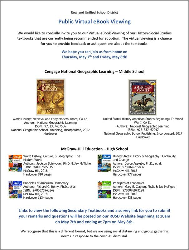 Virtual Textbook Adoption